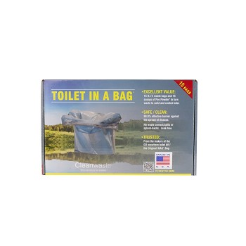 Clean Waste Toilet-In-A-Bag (15 bags per box)