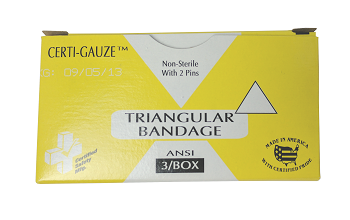 Certified Safety Triangular Bandage with 2 Safety Pins