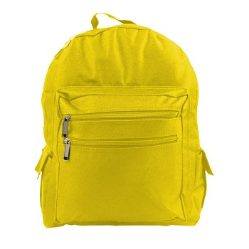 BACKPACK - (YELLOW) NO SILK SCREEN - Bag Size 13x16x6