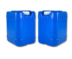 Two 5 gallon water containers