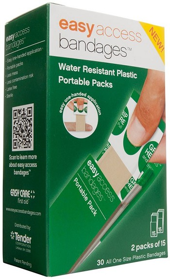 "Easy Access Plastic Bandage 1"" x 3"" (30 count)"