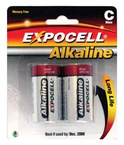 Alkaline 'C' Size Batteries – (Pair)
