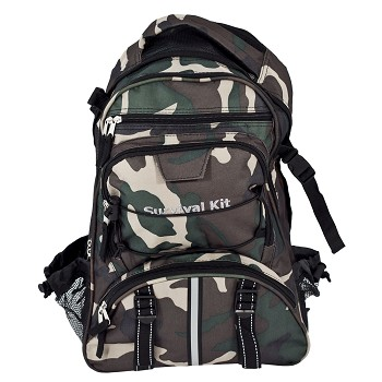 Camo Backpack with Orange Pull-Out Flag