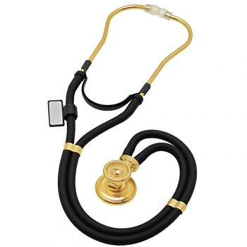 Sprague Rappaport Stethoscope - 22K Gold Edition (Black)