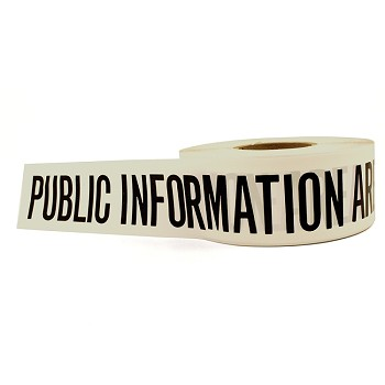 Public Information - Barricade Tape (white) 3 x 1000'