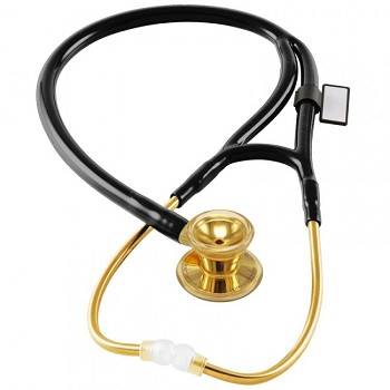 Classic Cardiology Stethoscope - 22K Gold Edition (Black)