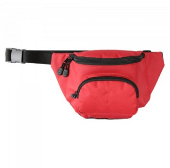 KEMP USA HIP PACK WITH MESH DRAIN - RED