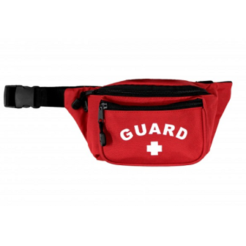 KEMP USA RED HIP PACK W/ GUARD LOGO