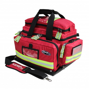 KEMP USA PREMIUM LARGE PROFESSIONAL TRAUMA BAG - RED