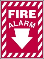 Fire Alarm Sign (Plastic)