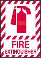 Fire Extinguisher Sign (Plastic)
