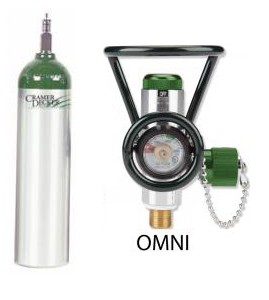 MD Cylinder with Omni Valve (0-25 LPM + Diss)
