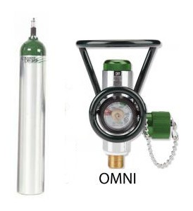 ME Cylinder with Omni Valve (0-15 LPM + Diss)