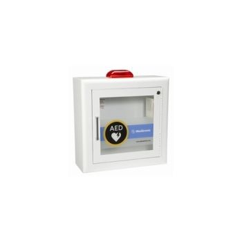AED Wall Cabinet with alarm and strobe -surface mount, rolled edges