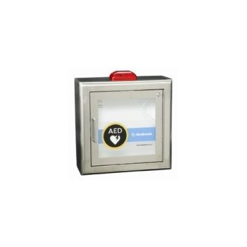 AED Wall Cabinet w/Alarm & Strobe, Surface Mount