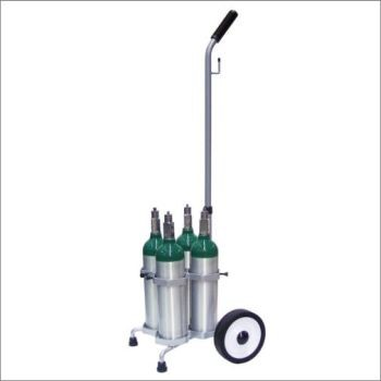 M6 4 Cylinder Cart with Adjustable Handle