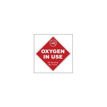"Oxygen Window Cling - No Smoking 5"" x 5"""