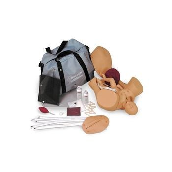 OB MANIKIN with overlays with soft carry bag