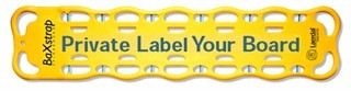 Customized BaXstrap Spineboard, Yellow