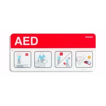 AED Awareness Placard (Red)