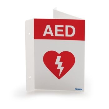 AED Wall Sign (Red)