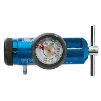 Mini O2 Regulator (0-15 LPM, Barb Only, EMS Blue)
