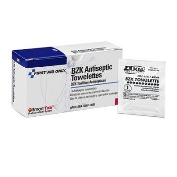 "BZK Antiseptic Towelette (4 3/4"" x 7 3/4"") - 18 per Double Unit Box"