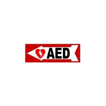 AED Sign - Left Arrow
