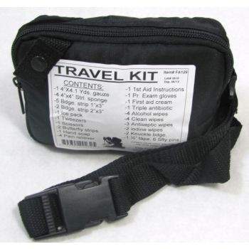 Travel First Aid Kit - Zippered Pouch in Nylon BLK Pouch