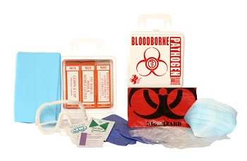 Bloodborne Pathogen - 6-Piece Kit (Poly White)