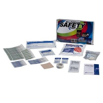 Home Safety First Aid Kit - WSL Fundraiser (Clear Bi-Fold Vinyl Case)