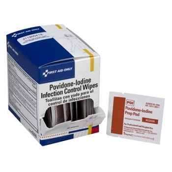 "Povidone-Iodine Infection Control Wipe (1 1/4"" x 2 1/2"")"