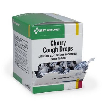 PhysiciansCare Cherry Flavor Cough & Throat Lozenges, 125x1/box