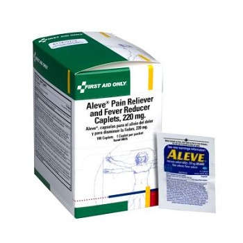 Aleve Pain Reliever and Fever Reducer Caplets (220 mg)   50x1/box