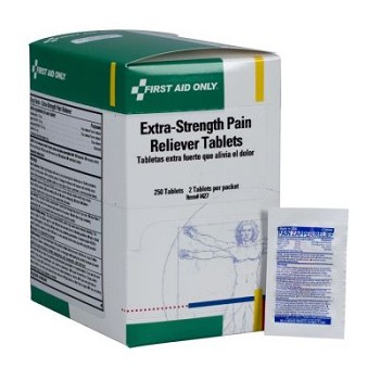 Extra Strength Pain Reliever - 250 Tablets per Dispenser Box