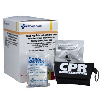 CPR Mask with Gloves Keychain, 15/box