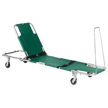 Easy Fold Swivel Wheeled Stretcher with Adjustable Back Rest