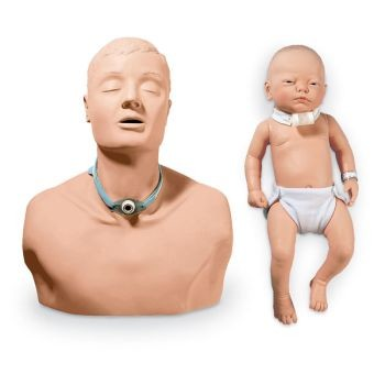 Tracheostomy Care Simulator Set, Adult & Infant