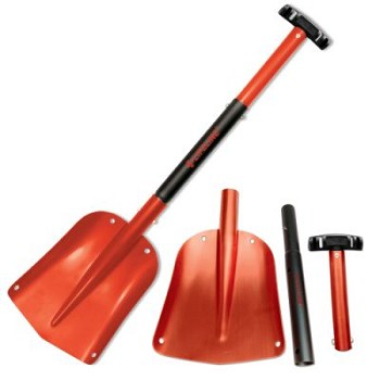 Aluminum Utility Shovel (Red/Black)