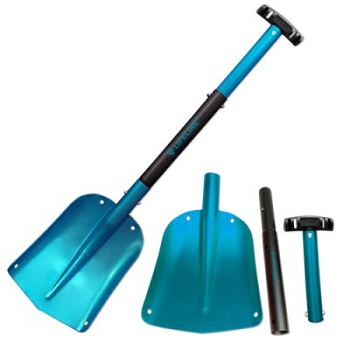 Aluminum Utility Shovel (Blue/Black)