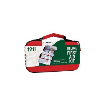 Deluxe Hard-Shell Foam First Aid Kit (121 Piece)