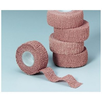 "Cohesive Elastic Bandage (1"" x 5 yds, Latex Free, Wrap You Can Tear)"