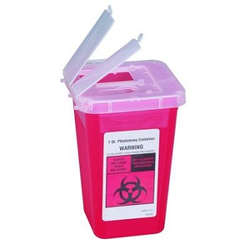 Sharps Container (1 Quart, Red)