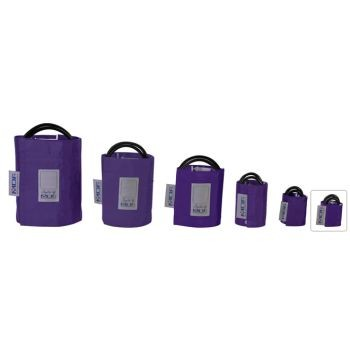 Latex-Free Replacement Blood Pressure Cuff - Newborn/Double Tube (Purple)