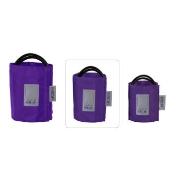 Latex-Free Replacement Blood Pressure Cuff - Large Adult D-Ring/Double Tube (Purple)