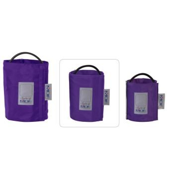 Latex-Free Replacement Blood Pressure Cuff - Large Adult D-Ring/Single Tube (Purple)