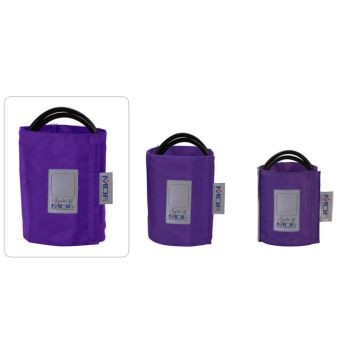 Latex-Free Replacement Blood Pressure Cuff - Thigh D-Ring/Double Tube (Purple)