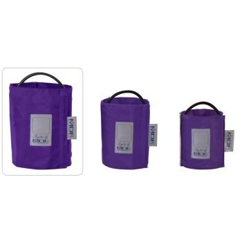 Latex-Free Replacement Blood Pressure Cuff - Thigh D-Ring/Single Tube (Purple)