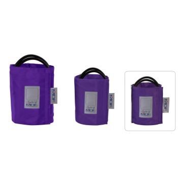 Latex-Free Replacement Blood Pressure Cuff - Adult D-Ring/Double Tube (Purple)