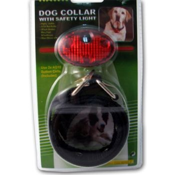 Dog Collar with 3 Function LED Light